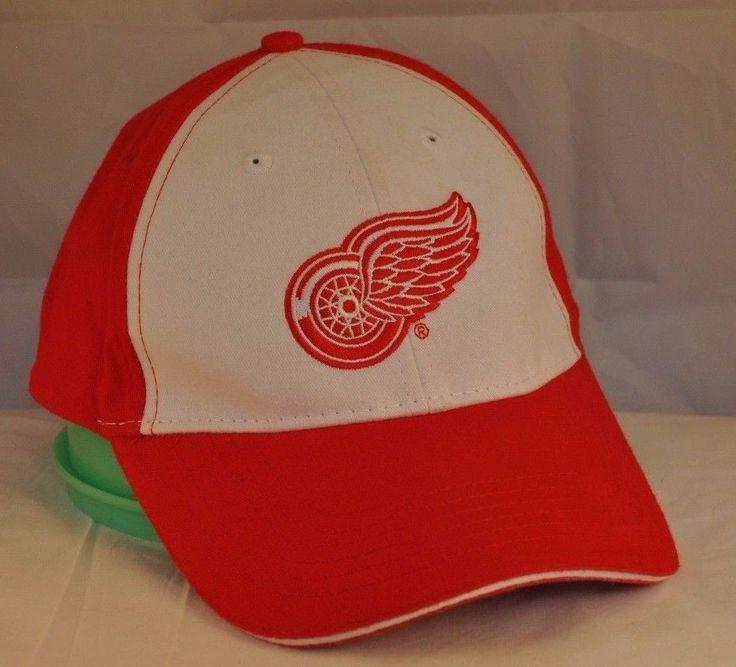 25b8c5aea45 Detroit Red Wings Baseball Hat Adjustable Size Miller Lite  DetroitRedWings