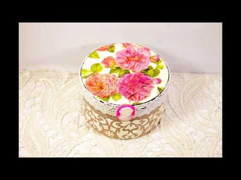 DIY craft tutorial & decoupage for beginners - YouTube