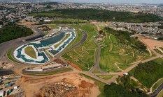 O Parque Radical de Deodoro, onde serão disputadas as provas de canoagem slalom e de mountain bike Foto: Divulgação/Prefeitura do Rio