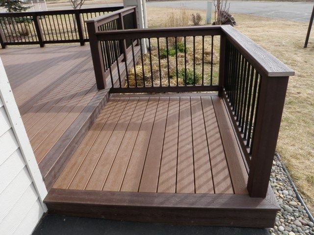 Deck Design Ideas Trex Cedar Hardwood Alaskan0164 In 2018 Patio Pinterest And Building A