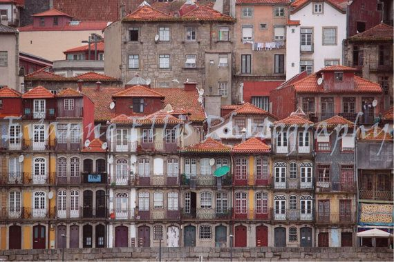 Portugal Photography - Porto Buildings Along the River Photo by FulfillEveryDream on Etsy.com, $10.00