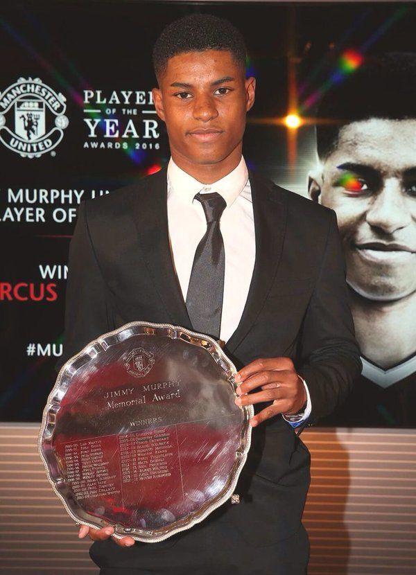 Marcus Rashford - Under 18's Player of the year 2015/16