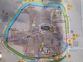 Mapa turistico Guerande  Detalle de mi viaje en Guerande, villa mediaval, Francia