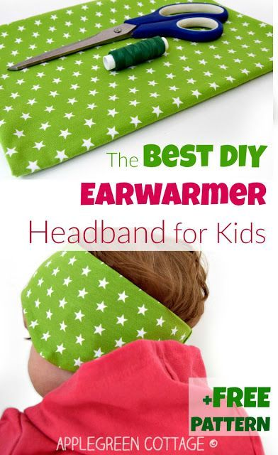 The best earwarmer headband tutorial - and free 3-size PDF sewing pattern! This…