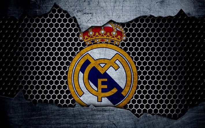 Download wallpapers Real Madrid, 4k, La Liga, football
