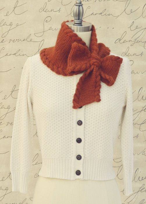 It's 95 degrees right now where I live in sunny So Cal, so what better time to start thinking about my Holiday Gift Project List? My first recommendation is the Bow Tie Ascot in Cascade Yarns Highl...