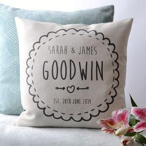 Personalised Couple Cushion Cover - The best wedding presents are always the…