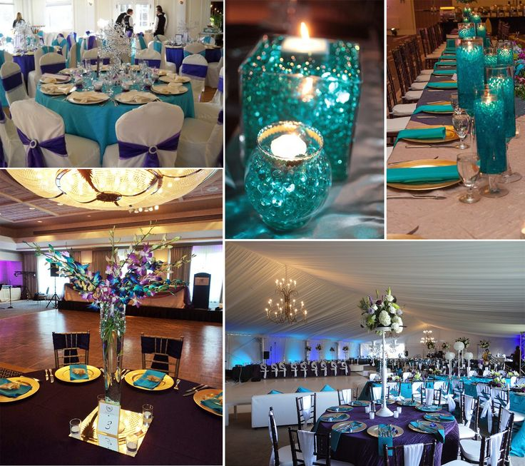 tiffany blue and black wedding decorations%0A purple and teal wedding venue UK