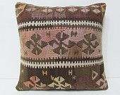 victorian decor 18x18 shabby chic home decor kilim pillow coral decorative pillow brown throw pillow couch pillow western home decor 23343