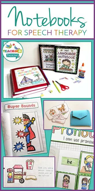 Articulation and Language Notebooks Value Bundle - SLP Interactive Notebooks - Speech and Language Therapy Notebooks - These are great for the Kindergarten, 1st, 2nd, or 3rd grade speech language therapist. You receive articulation cards, pockets, I can statements, themed notebook pages, target words, notebook templates. Common Core aligned, work for covering a variety of standards. Language targets for sentence formulation, following directions, picture description.