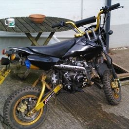 Shineray 125 pit bike | It's Been NICKED ™  This bike was stolen from Warwickshire.  Have you seen it?
