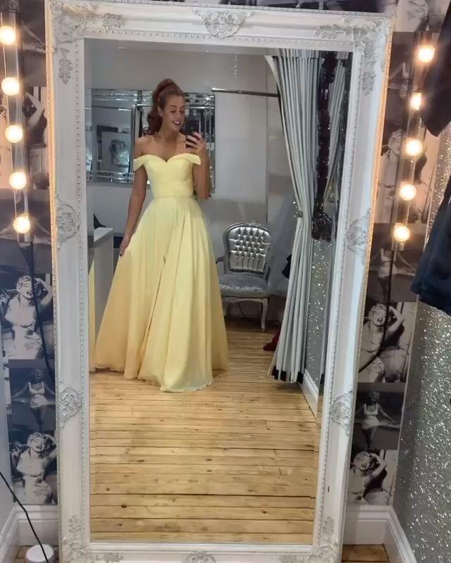 Yellow Prom Gown,Prom Dress,long prom dress, evening dress,prom dresses