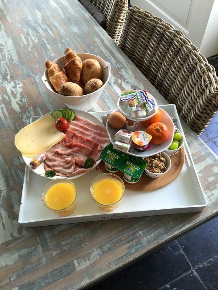 2 persoons Ontbijt bij bed&breakfast Opperdoes op de kamer geserveerd.