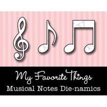 My Favorite Things - MUSICAL NOTES - vyřezávací šablona