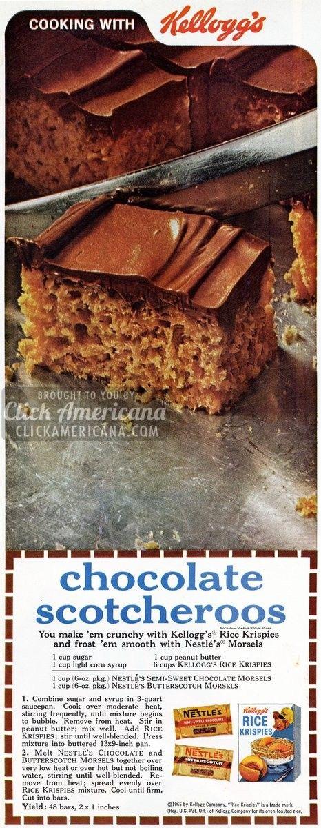 Chocolate Scotcheroos Recipe (1965)