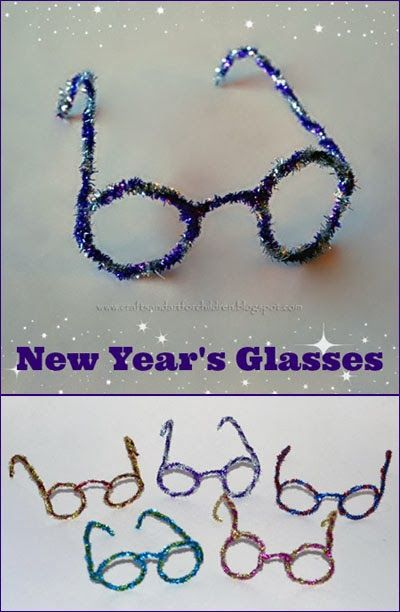 We love making fun glasses for the kids to wear in New Year's. This year, we made sparkly pipe cleaner glasses for the kids to wear at a Countdown to New Year's party at a friend's house. They are easy to make and inexpensive. I bought the sparkly pipe cleaners from Dollar Tree. Here's how …
