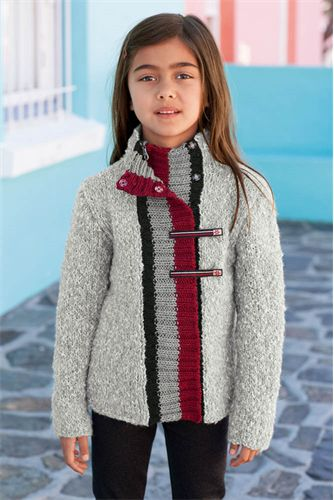 Bergere de France Zip Front Jacket Pattern. 6-12 years
