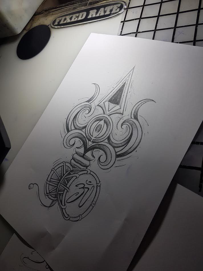 trishul tattoo @ skindeep tattoo studio