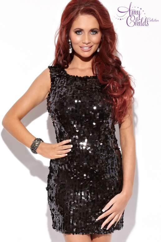 Amy Childs Sequin Shift Dress