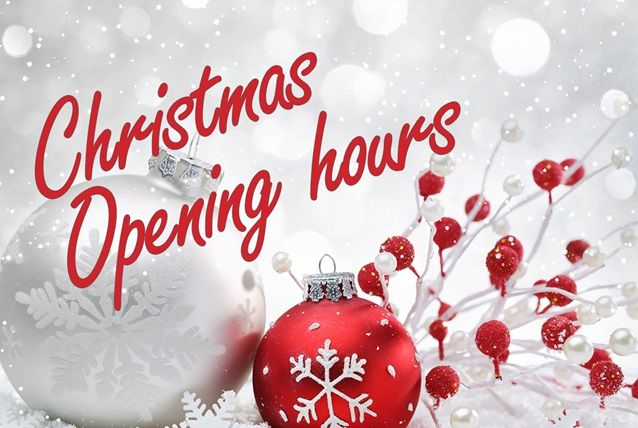 To find out our Christmas opening times this year click the link. It shows opening times for all of our branches and our online store. Merry Christmas!!