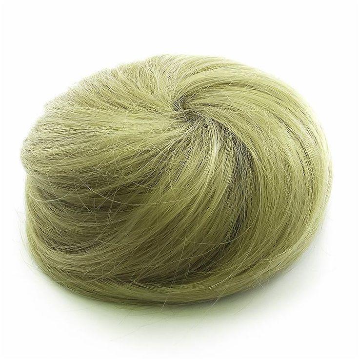 Messy Clip in Hair Bun Extension - Blonde