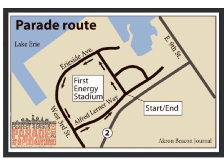 """BROWNS 0-16 PARADE The parade route around the Browns stadium on Jan. 6 celebrating the team's 0-16 """"Perfect Season."""""""