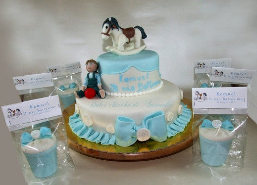 cake and favors
