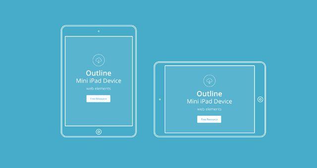 Vector Apple Outline Device PSD   Psd Web Elements   Pixeden