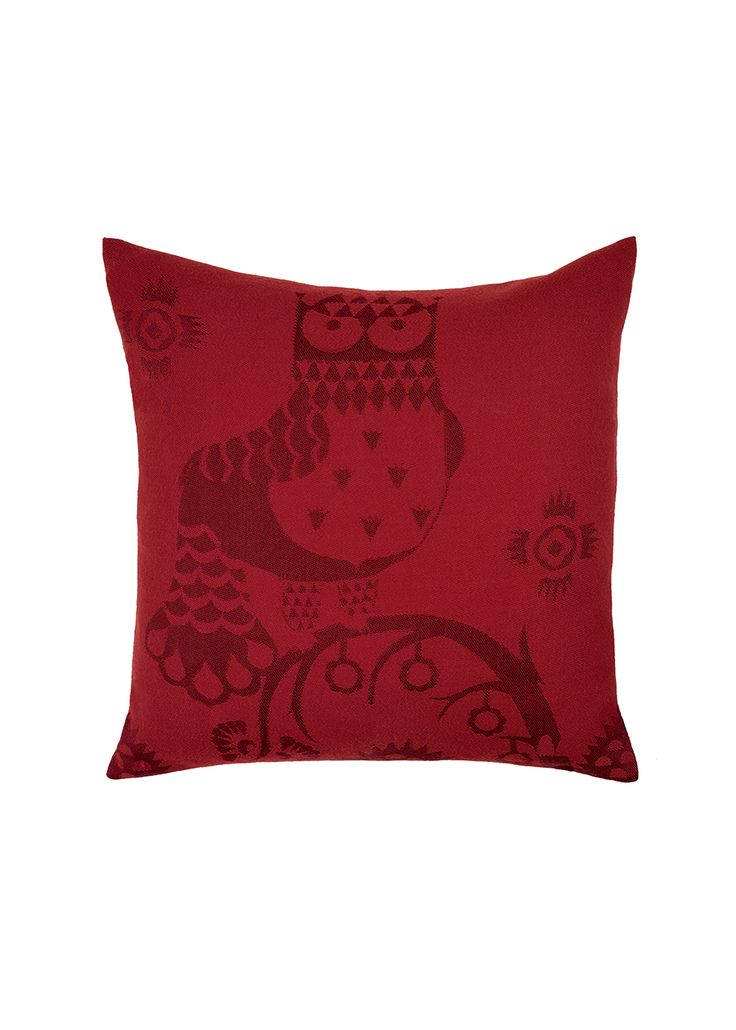 Taika Cushion cover 50x50 cm red Klaus Haapaniemi