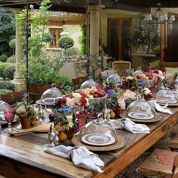 Outdoor Table Setting Ideas Glamorous 64 Best French Al Fresco Images On Pinterest  Outdoor Dining 2017