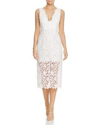 Jill Jill Stuart Lace V-Neck Dress   Bloomingdale's