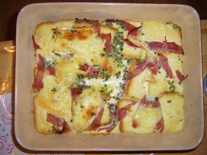Montagnard French Toast 100 g Brot 100 g Reblochon 80 g weißer Schinken 30 g