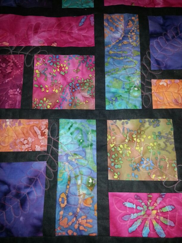 Best 25+ Batik quilts ideas only on Pinterest Stained glass quilt, Jelly roll sewing and ...