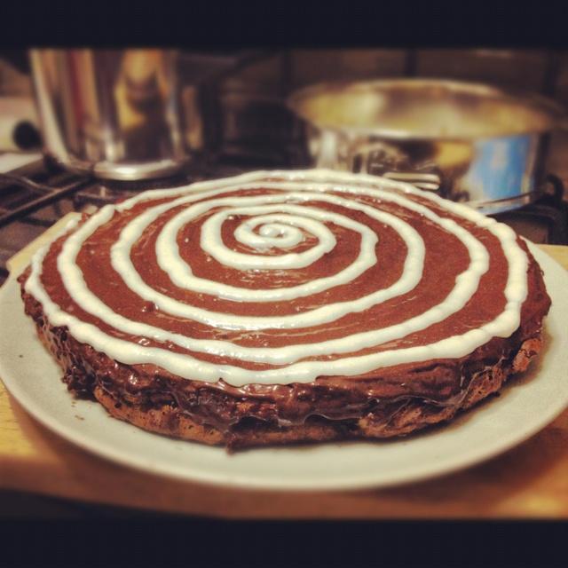 Pears-chocolate pie, torta pere cioccolato #dukan