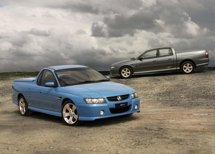 2005 Holden VZ Ute SS Z (foreground). With Crewman in the background.