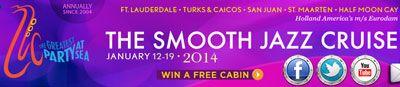 12 January 2014 - ms Eurodam - The Smooth Jazz Cruise 2014 - 8 Day ex Fort Lauderdale, Florida (Port Everglades)