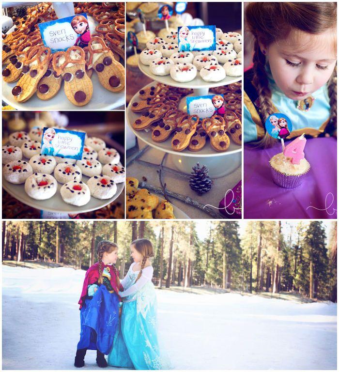 Frozen Themed Birthday Party with Lots of Really Great Ideas via Kara's Party Ideas | KarasPartyIdeas.com #disneysfrozen #frozenparty #froze...