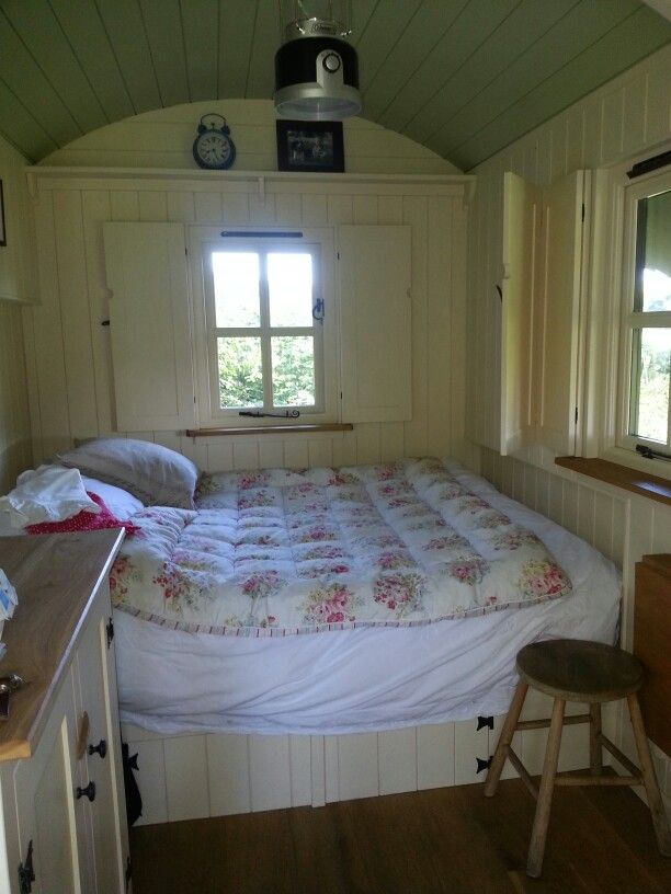 Inside Shepherds hut