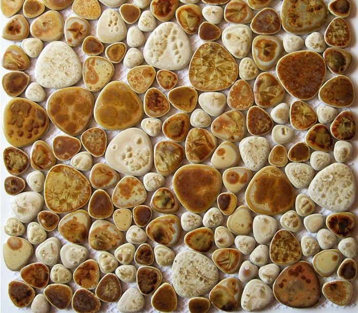 Glazed Pebble Porcelain Mosaic Tiles Ppmt020 Bathroom Wall