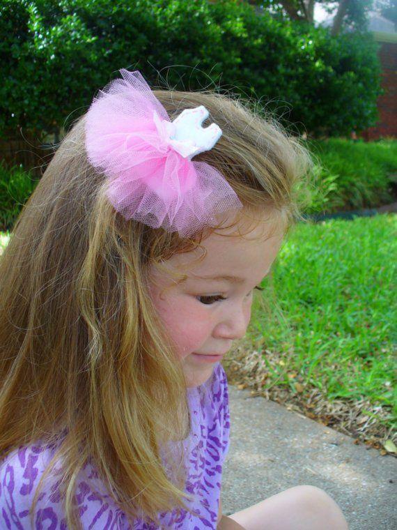Ballerina Hair Clip Clippie Hair Bow by bubblesandcompany on Etsy, $5.00