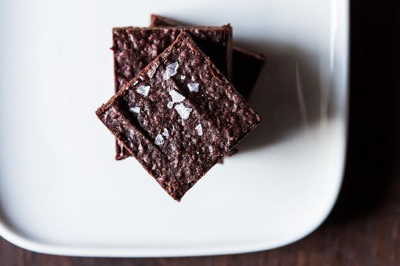 Alice Medrich's Best Cocoa Brownies.  I usually add a 1/2 teaspoon of cayenne pepper to bring out the chocolate flavor even more.  I don't like nuts in my baked goods (unless it is Pecan Pie of course) so I eliminate that.