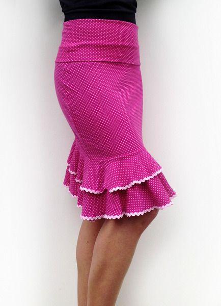Miniröcke - Kurzer Flamenco-Rock (Überrock) - ein Designerstück von Tomaquetoma. Auf  www.tomaquetoma.de