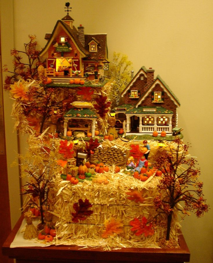 Halloween village display dept