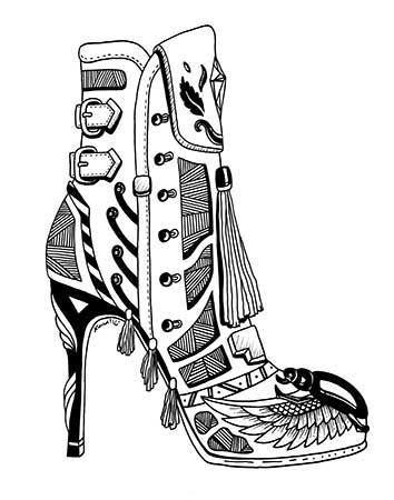6bc9de8097cade 30 Most Beautiful   Unique High Heel Drawing Illustrations You Will Love