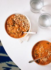 West African Peanut Soup recipe from cookieandkate.com