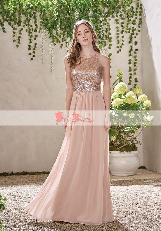b6984f4430 Light Pale Blue Mismatched Chiffon Simple A-line Bridesmaid Dresses ...