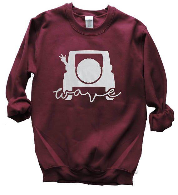 Jeep Wave Sweater   Jeep Sweatshirt   Super Soft  Back of