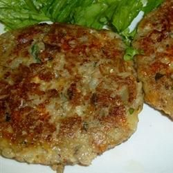 Eggplant Croquettes - baked at 350 for 15 minutes, flip and cook 20 minutes more.  Tried with half eggplant, half zucchini...loved!  Making more for freezer!!
