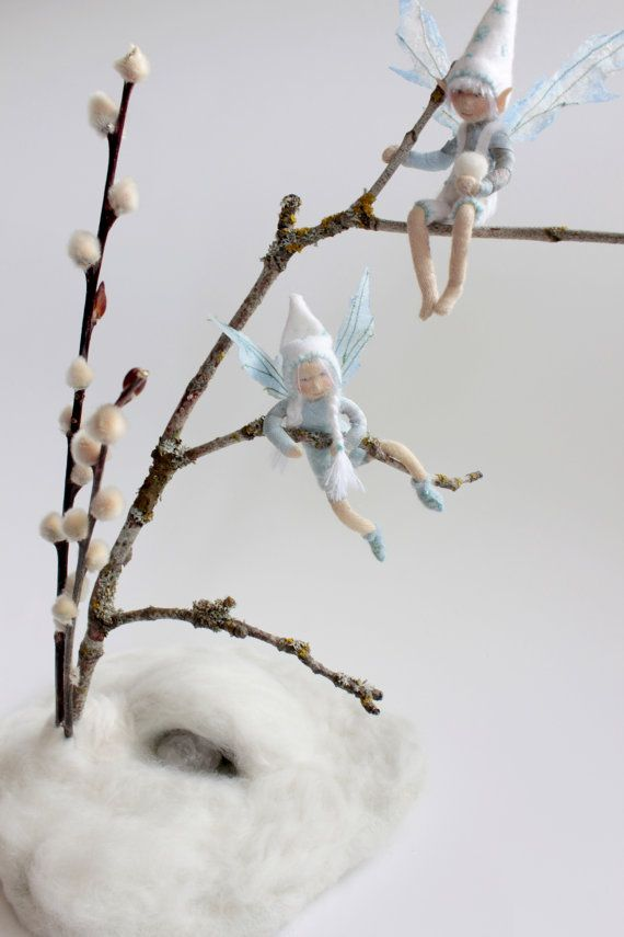 The Snow Fairies  Waldorf Inspired Winter Fairy by Phoebecapelle,