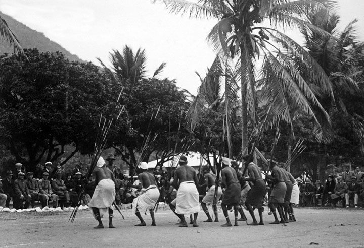 File:Queensland State Archives 1376 Natives display before ...